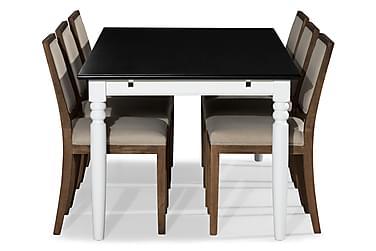 Ruokailuryhmä Hampton 190 cm + 6 Frendy tuolia