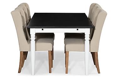 Ruokailuryhmä Hampton 190 cm + 6 Isolde tuolia