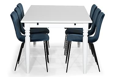 Ruokailuryhmä Hampton 190 cm 6 Miko tuolilla Sametti