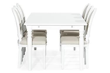 Ruokailuryhmä Hampton 190 cm + 6 Wisle tuolia