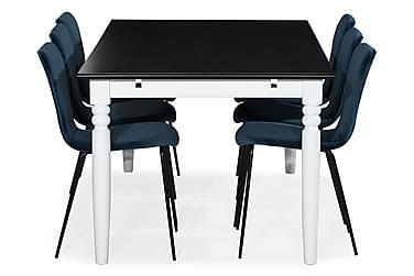 Ruokailuryhmä Hampton 190 cm Mahonkiviilu 6 Miko tuolilla Sa