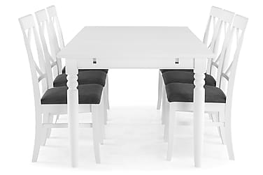 Ruokailuryhmä Hampton 190 cm Valkoinen