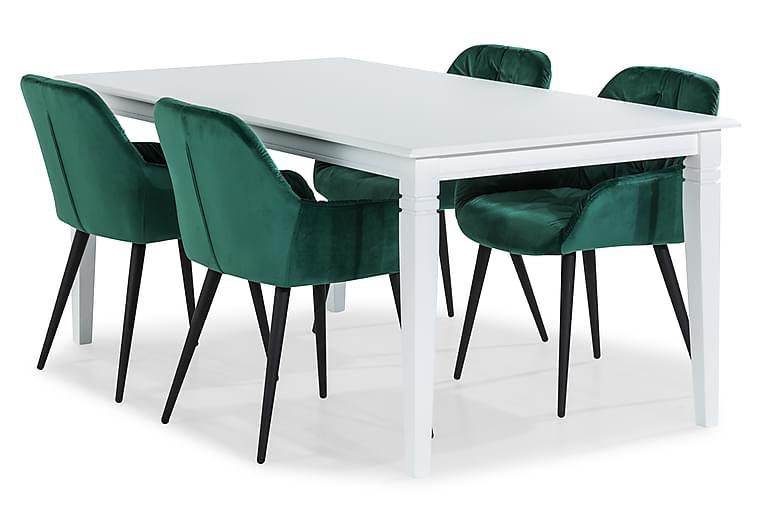 Ruokailuryhmä Hartford 180 cm 4 Giovanni tuolilla Sametti - Huonekalut - Ruokailuryhmät - Kulmikas ruokailuryhmä