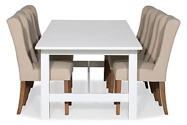 Ruokailuryhmä Isadora Jatkettava 240 cm + 6 Isolde tuolia