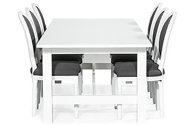 Ruokailuryhmä Isadora Jatkettava 240 cm + 6 Wisle tuolia