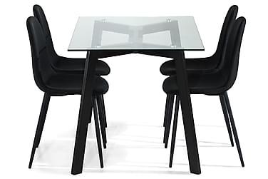 Ruokailuryhmä Jaunita 120 cm 4 Naira tuolia
