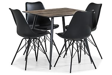 Ruokailuryhmä Jaunita 80 cm 4 Scale tuolia