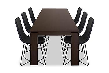 Ruokailuryhmä Kierra 6 Theresa tuolilla