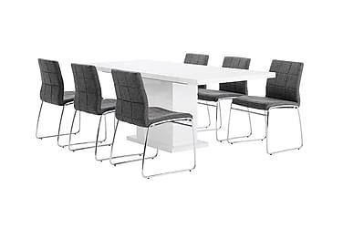 Ruokailuryhmä Kulmbach 6 Mucura tuolilla