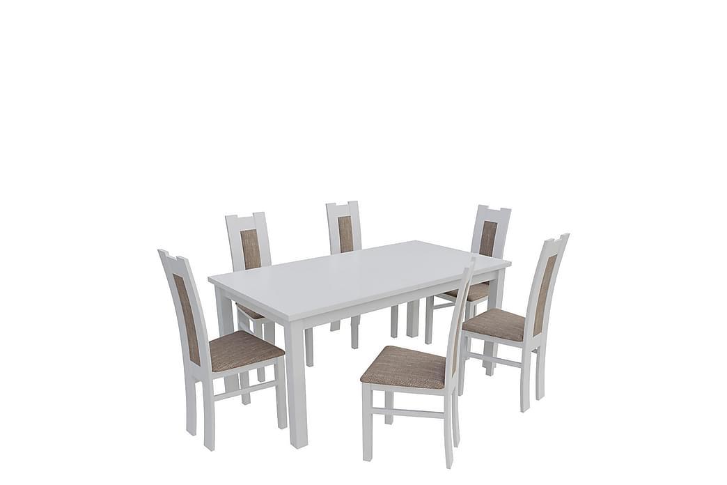 Ruokailuryhmä Kumo - Valkoinen - Huonekalut - Ruokailuryhmät - Kulmikas ruokailuryhmä