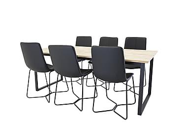 Ruokailuryhmä Laura 200 cm 6 Theresa tuolilla