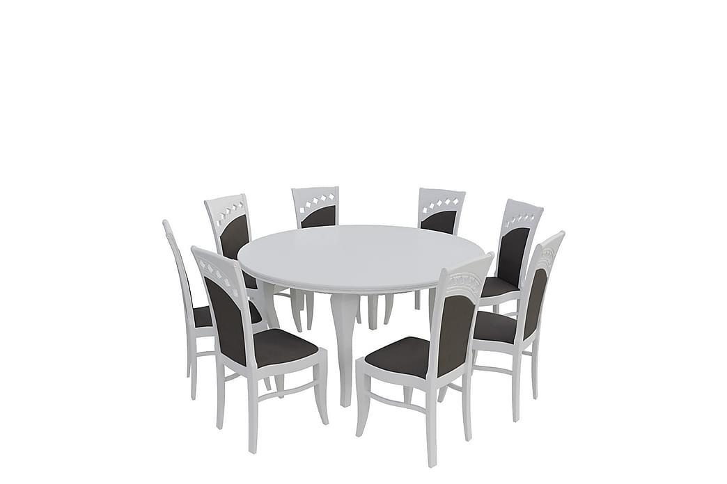 Ruokailuryhmä Letala - Valkoinen - Huonekalut - Ruokailuryhmät - Kulmikas ruokailuryhmä