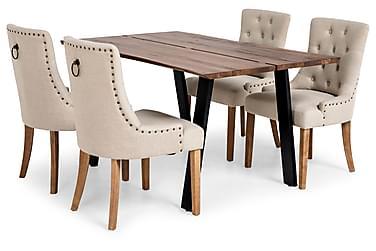 Ruokailuryhmä Memento 150x95 4 Viktoria tuolilla