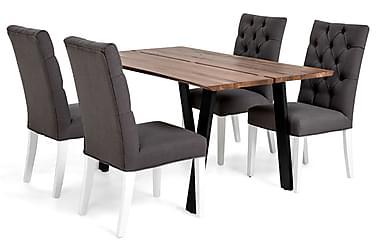 Ruokailuryhmä Memento 150x95cm 4 Jenny tuolilla