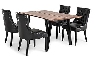 Ruokailuryhmä Memento 150x95cm 4 Tuva tuolilla