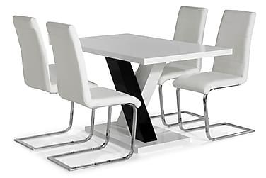 Ruokailuryhmä Mendoza 140 cm 4 Jack tuolia
