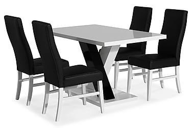 Ruokailuryhmä Mendoza 140 cm 4 Max tuolia