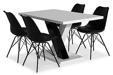 Ruokailuryhmä Mendoza 140 cm 4 Scale tuolia