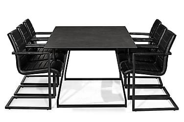 Ruokailuryhmä Mila 200 cm + 6 Dutch tuolia Vintage