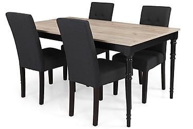 Ruokailuryhmä Milton Jatkettava 160 cm + 4 tuolia Leo