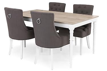 Ruokailuryhmä Milton Jatkettava 160 cm + 4 tuolia Ophelia