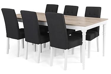 Ruokailuryhmä Milton Jatkettava 200 cm + 6 tuolia Leo