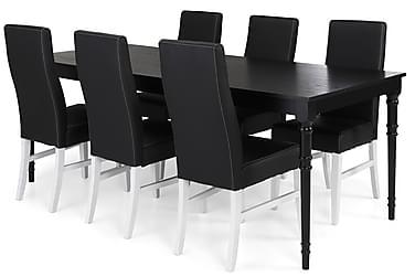Ruokailuryhmä Milton Jatkettava 200 cm + 6 tuolia Max