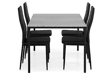 Ruokailuryhmä Minto 138 cm + 4 Fred tuolia