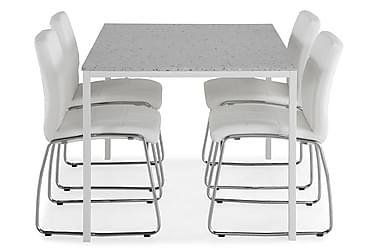 Ruokailuryhmä Minto 138 cm + 4 Mucura tuolia