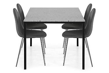 Ruokailuryhmä Minto 138 cm + 4 Naira tuolia
