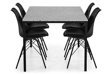 Ruokailuryhmä Minto 138 cm + 4 Scale tuolia