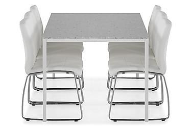 Ruokailuryhmä Minto 158 cm + 6 Mucura tuolia
