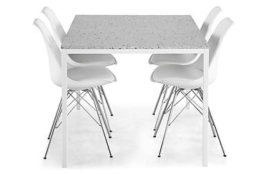 Ruokailuryhmä Minto 158 cm + 6 Scale tuolia