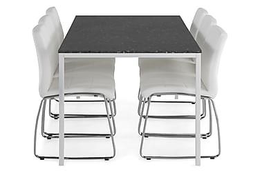 Ruokailuryhmä Minto 180 cm + 6 Mucura tuolia