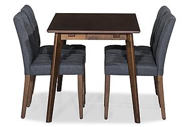 Ruokailuryhmä Miru 120 cm 4 Theda tuolilla