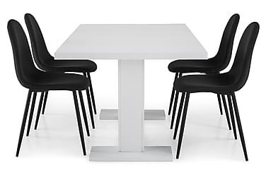 Ruokailuryhmä Nico 160x40 cm Valkoinen/Musta
