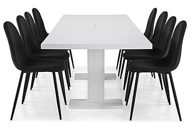 Ruokailuryhmä Nico 200x40 cm Valkoinen/Musta