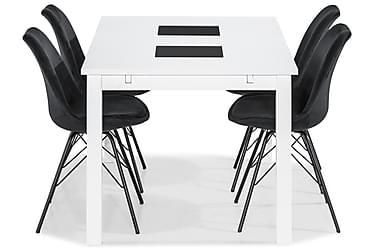 Ruokailuryhmä Octavia 140 cm 4 Scale tuolilla Sametti