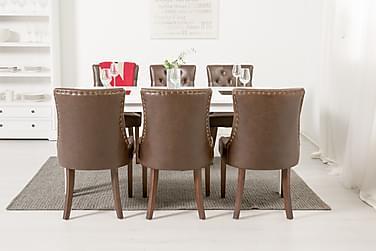 Ruokailuryhmä Octavia 180 cm + 6 Hermione tuolia
