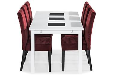 Ruokailuryhmä Octavia 180 cm 6 Max tuolilla