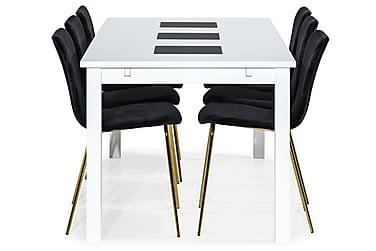 Ruokailuryhmä Octavia 180 cm 6 Miko tuolilla