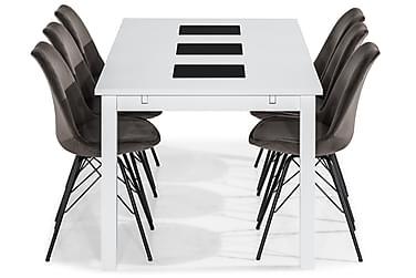 Ruokailuryhmä Octavia 180 cm 6 Scale tuolilla Sametti