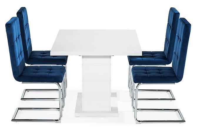Ruokailuryhmä Ratliff 120 cm 4 tuolilla - Huonekalut - Ruokailuryhmät - Kulmikas ruokailuryhmä