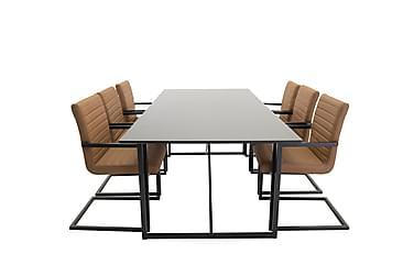 Ruokailuryhmä Sanvil 240 cm 6 Lisen tuolia
