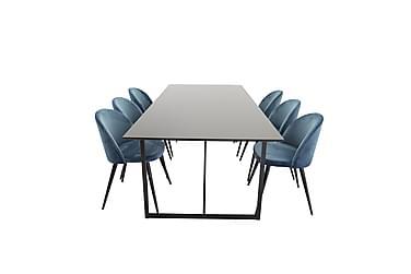 Ruokailuryhmä Sanvil 240 cm 6 Luisa tuolia