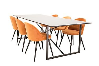 Ruokailuryhmä Sanvil 240 cm 6 Luisa tuolilla