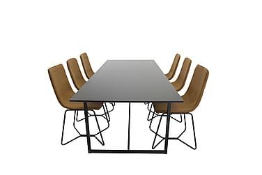 Ruokailuryhmä Sanvil 240 cm 6 Theresa tuolia
