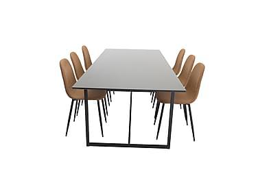 Ruokailuryhmä Sanvil 240 cm 6 Tommy tuolia