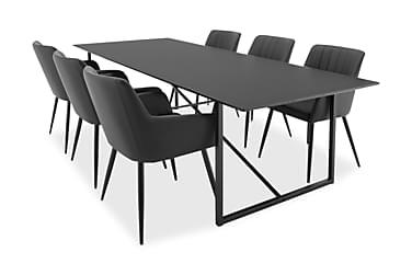 Ruokailuryhmä Sanvil 240 cm 6 Ulf tuolia