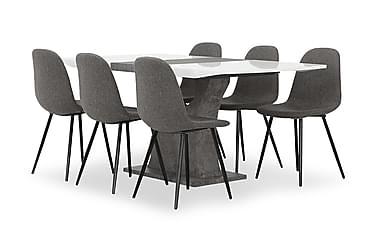 Ruokailuryhmä Seseli 140 cm 6 Abuzzo tuolilla